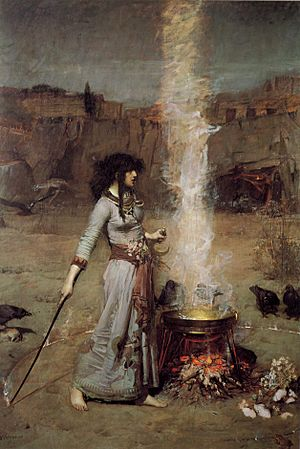 John William Waterhouse - Magic Circle