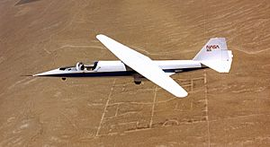 NASA AD-1 in flight