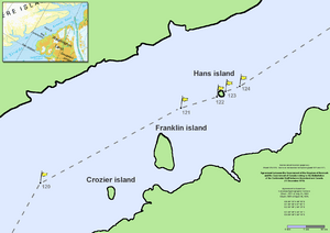 Nares strait border (Kennedy channel)