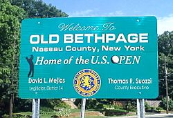 Entry sign into Old Bethpage