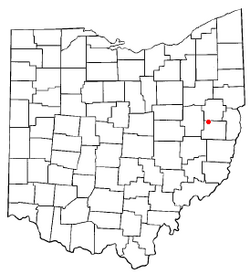 Location of Bowerston, Ohio