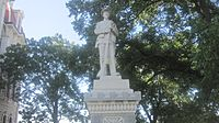Confederate soldier statue at Parker County, TX, Courthouse IMG 6471