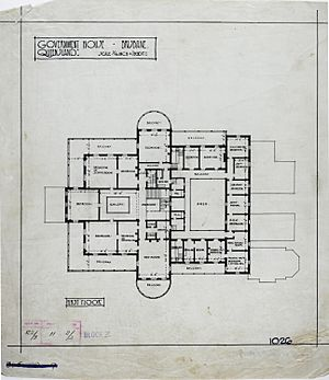 First Floor Plan of Government House, Brisbane, c 1940