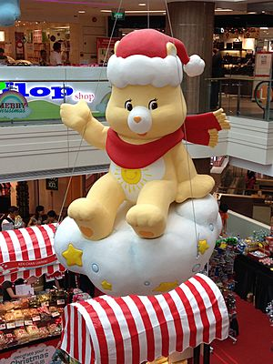 Funshine Bear from Care Bear , Junction 8, Singapore, Dec 2013 01