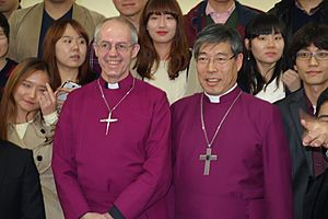 Justin Welby and Kim Geun-Sang at Seoul Cathedral