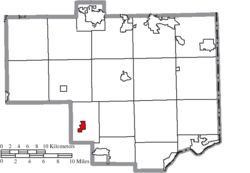 Location of Summitville in Columbiana County