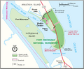 Map of Fort Matanzas National Monument