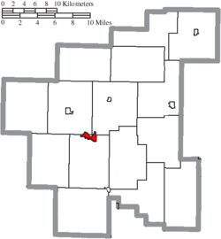 Location of Caldwell in Noble County