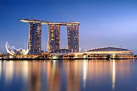 Marina Bay Sands in the evening - 20101120