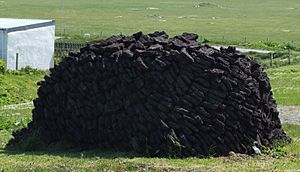 Peat-Stack in Ness, Outer Hebrides, Scotland