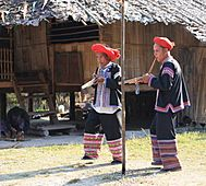 Lahu flute players