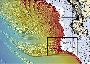 Mavericks bathymetry - cropped