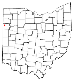 Location of Convoy, Ohio