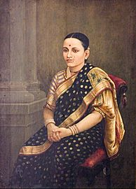 Raja Ravi Varma - Portrait of a Lady - Google Art Project
