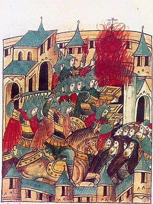 Sacking of Suzdal by Batu Khan