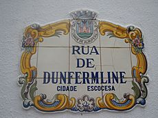 Street sign Rua de Dunfermline 20 March 2015 (2)