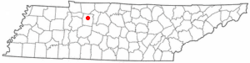 Location of Charlotte, Tennessee