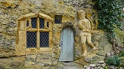 The Chapel of Our Lady of the Crag entrance, Knaresborough, Yorkshire.jpg