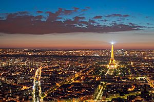 Eiffel Tower from the Tour Montparnasse, 1 May 2012 N1