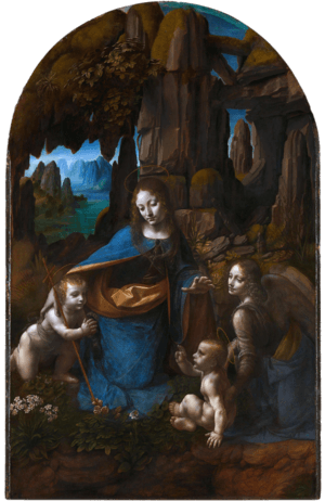Leonardo da Vinci - Virgin of the Rocks (National Gallery London)