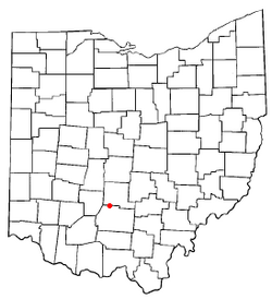 Location of Clarksburg, Ohio