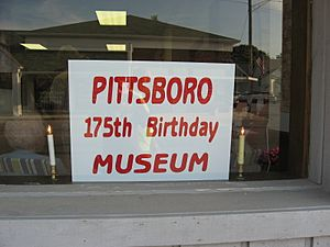 Pittsboro 175th Birthday Museum, front window (Pittsboro, Indiana - 2009)