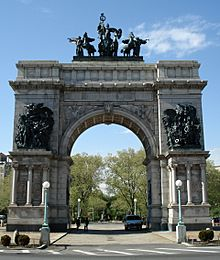 The Soldiers and Sailors Memorial Arch at Grand Army Plaza