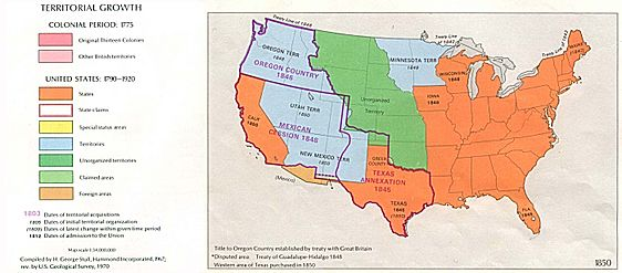 USA Territorial Growth 1850