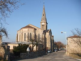 The church in Colombier-le-Vieux
