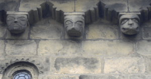 Adel Church, Leeds, UK corbel frieze