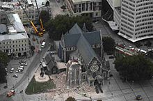 ChristChurch Cathedral - 2011 earthquake damage