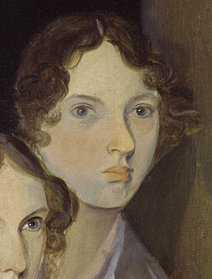 The only undisputed portrait of Brontë, from a group portrait by her brother Branwell