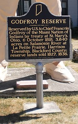 Godfroy Reserve Marker in Montpelier Indiana