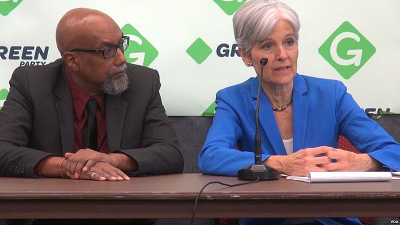 Jill Stein and Ajamu Baraka at 2016 GPNC