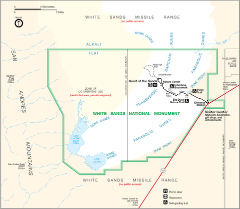 Map of White Sands National Monument