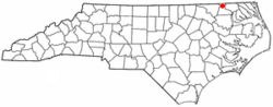 Location of Como, North Carolina