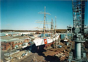 USCGC Eagle Coast Guard Shipyard