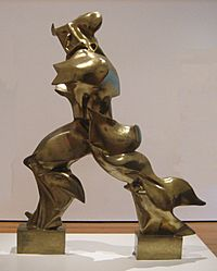'Unique Forms of Continuity in Space', 1913 bronze by Umberto Boccioni