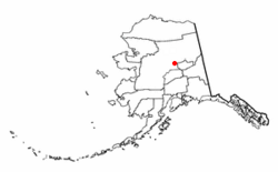 Location of Manley Hot Springs, Alaska