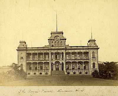 Iolani Palace in 1885
