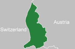 Location of  Liechtenstein  (green)