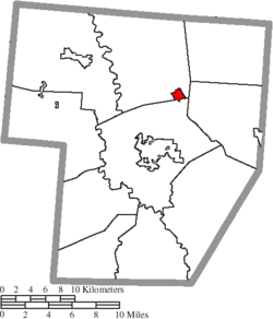 Location of Bloomingburg in Fayette County