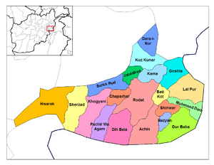 Nangarhar districts