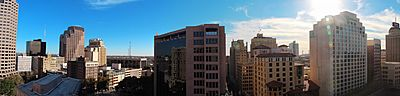 Panorama from hotel in San Antonio