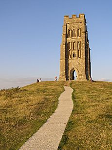 Summit of glastonbury tor