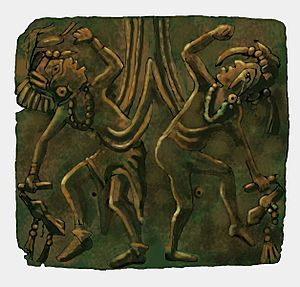 Upper Bluff Lake Dancing Figures plate HRoe 2012