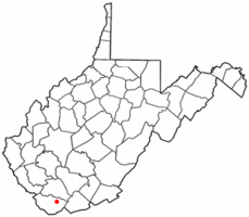 Location of Kimball, West Virginia