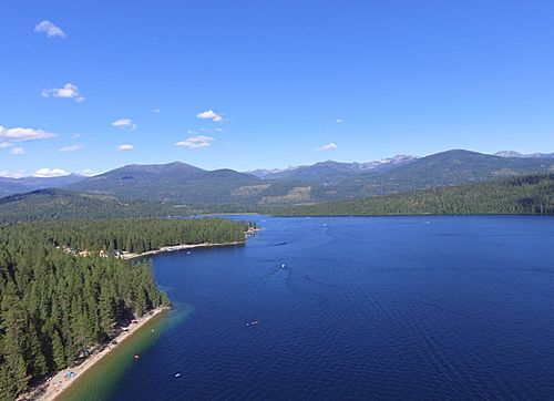 Aerial view of Priest Lake Idaho