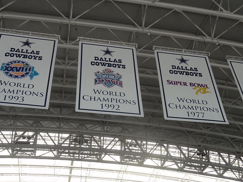 Dallas Cowboys stadium championship banners 4