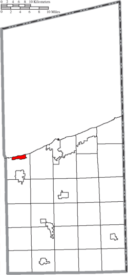 Location of Geneva-on-the-Lake in Ashtabula County
